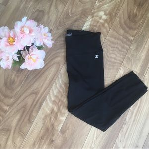 Champion Small Black Yoga Running Capri Legging